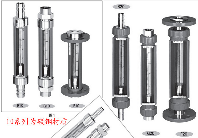 临漳VA10-40全不锈钢玻璃管转子流量计参数
