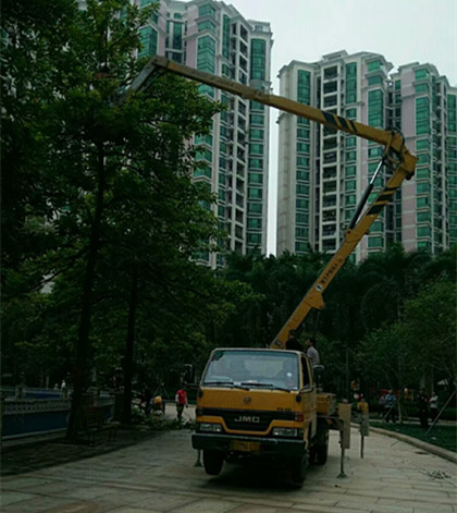 阳江旗杆维修高空举人车出租--商情