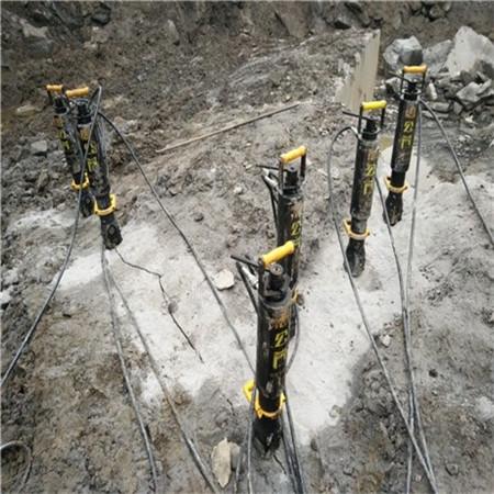 邢台花岗岩岩石液压快速分裂机~性价比例